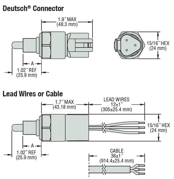Gems Sensors 240645 Cap-300 Reliable Coolant Level Sensor  Wet Source  Brass Stem  1  4